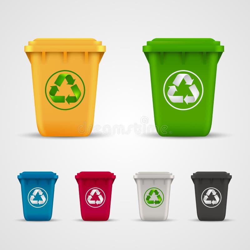 Ecological trash set stock illustration