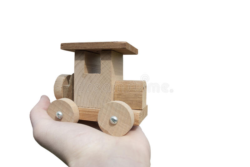 Download Ecological Wooden Car In Hand Stock Photo - Image: 24821190