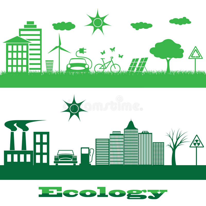 Ecologie stock illustratie