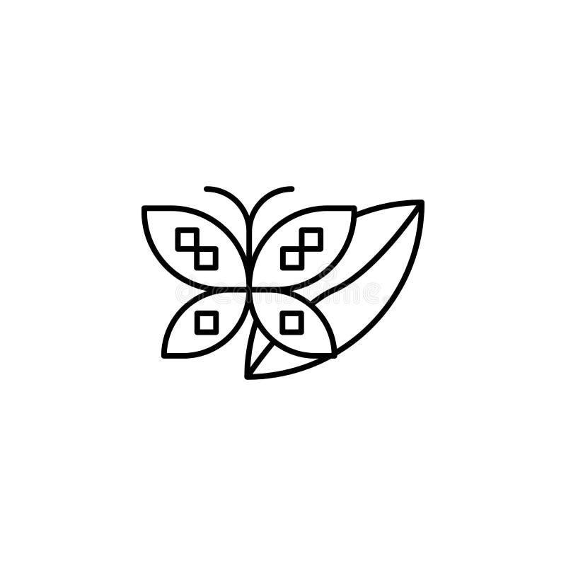 ecologie, aarddag, vlindericoon Element van het pictogram van de moederaarddag Thin line pictogram voor ontwerp en ontwikkeling v royalty-vrije illustratie