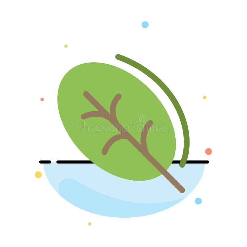 Ecologie, Blad, Aard, het Pictogrammalplaatje van de de Lente Abstract Vlak Kleur vector illustratie