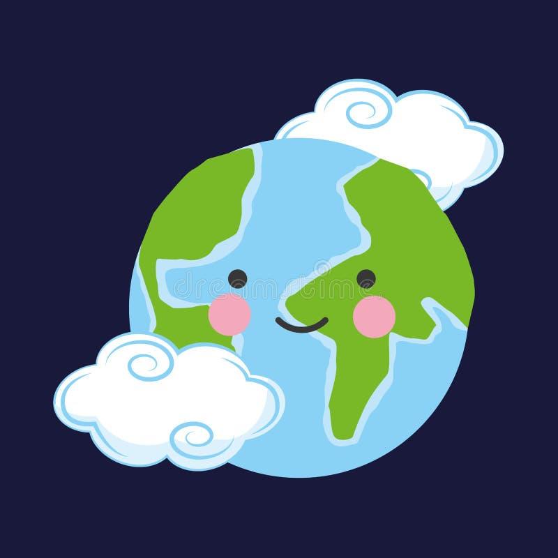 Ecologie en groene wereld royalty-vrije illustratie