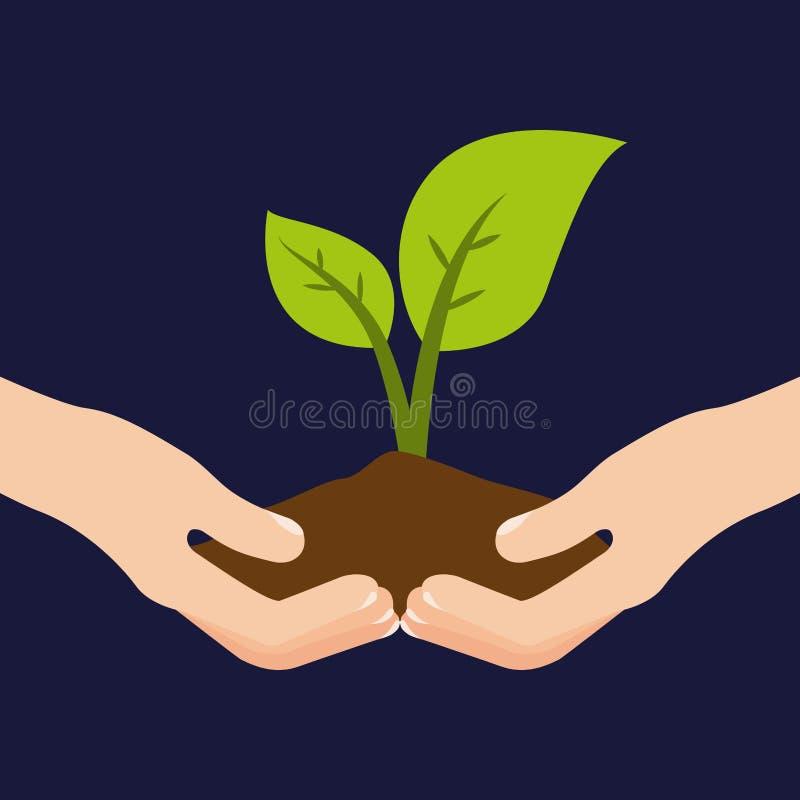 Ecologie en groene wereld stock illustratie