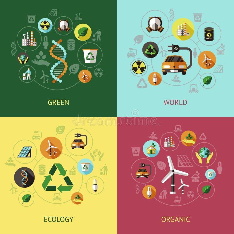 Ecologie Gekleurde Samenstellingen royalty-vrije illustratie