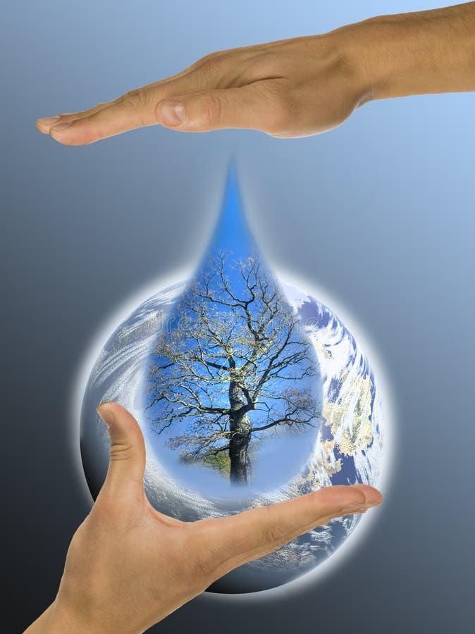 Ecologie, handen, verantwoordelijkheid royalty-vrije stock foto's