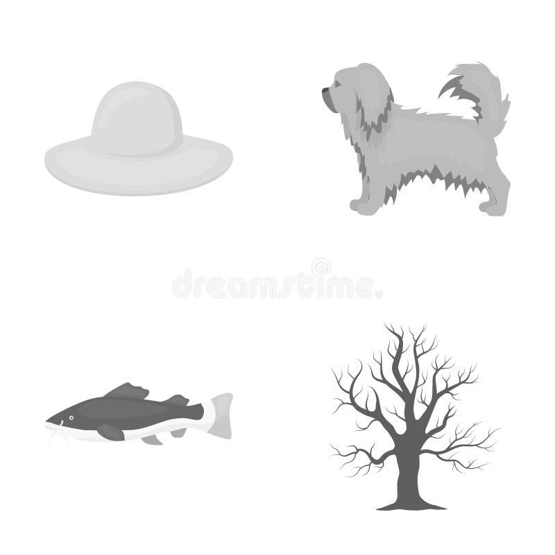 Ecologie, industrie, handel en ander Webpictogram in zwart-wit stijl , takken, de herfst, boomstam, pictogrammen in vastgestelde  royalty-vrije illustratie