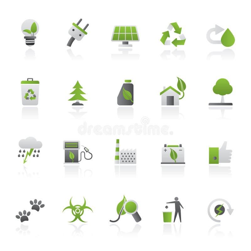 Ecologie, Milieu en aardpictogrammen 2 stock illustratie