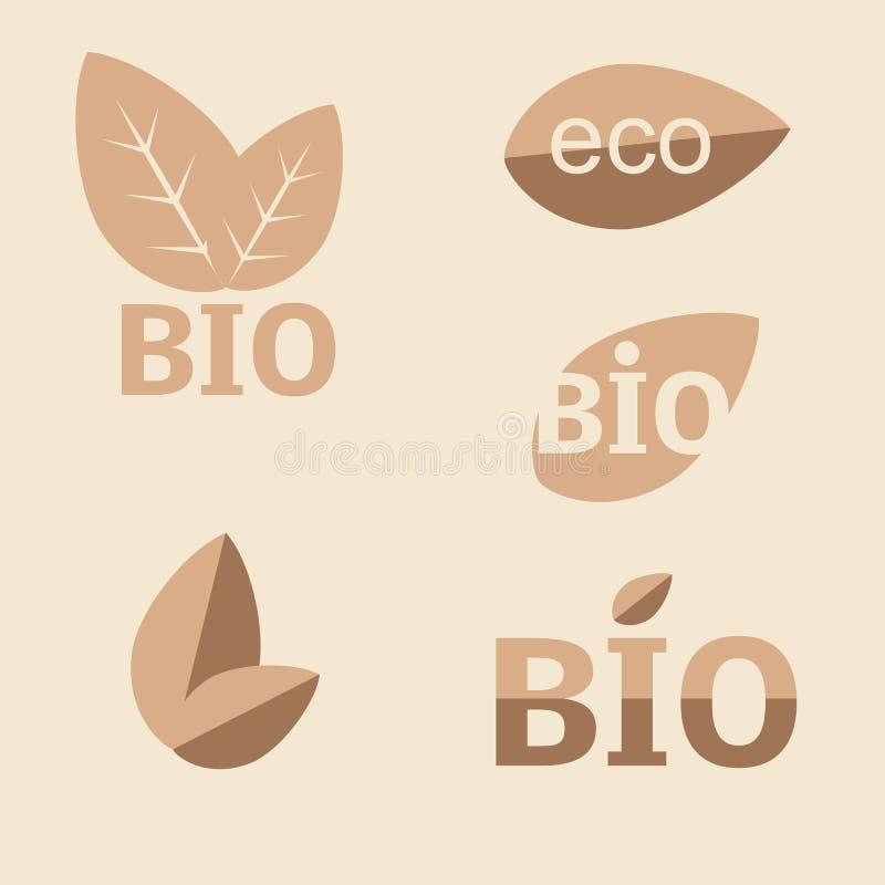 Ecologie, organische pictogramreeks. Eco-pictogrammen vector illustratie