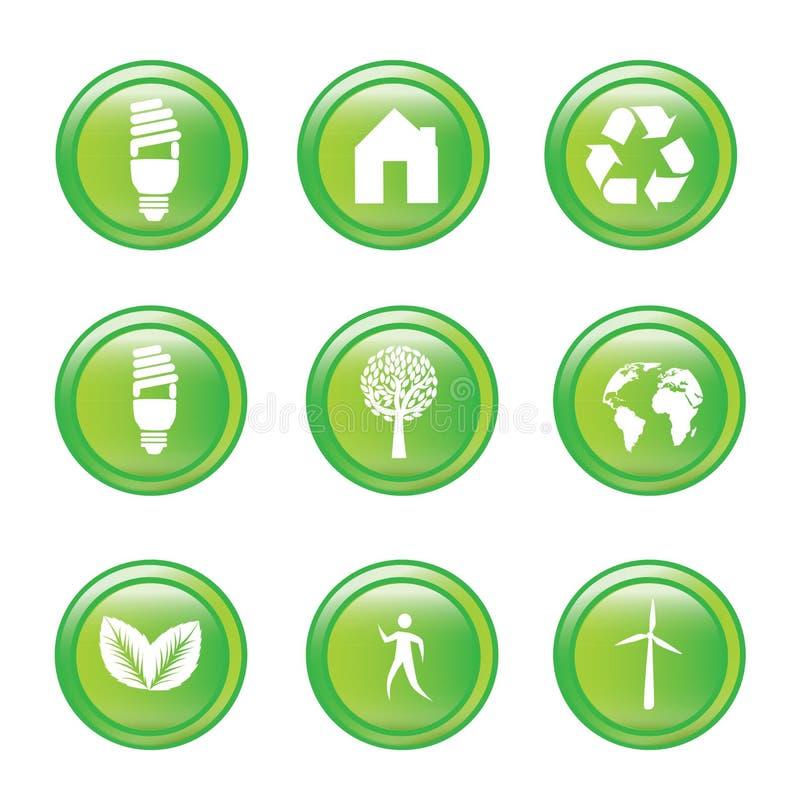 Ecologiepictogrammen vector illustratie