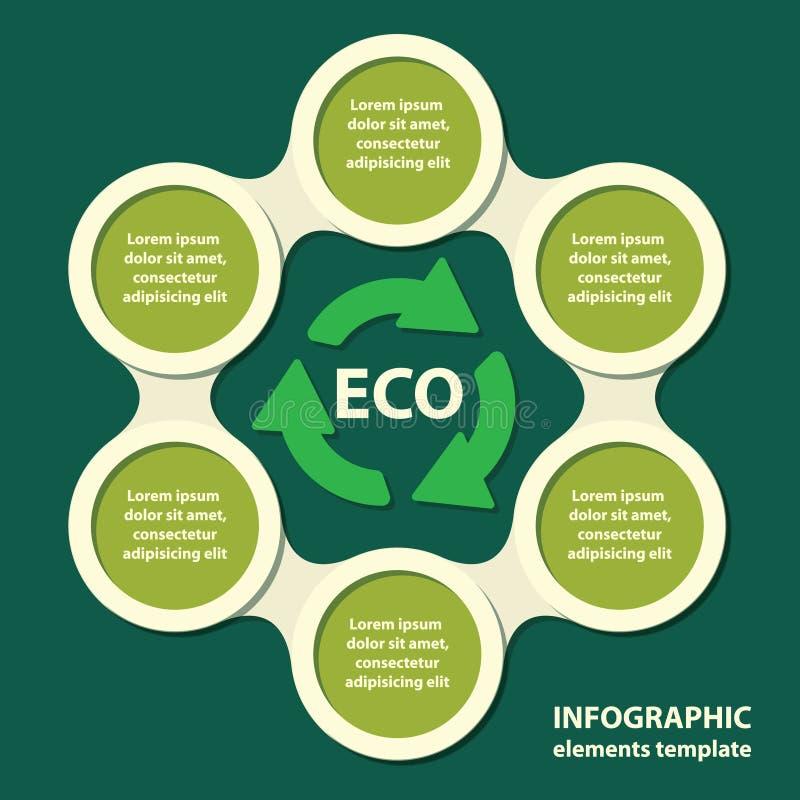 Ecologisch concept. malplaatje voor presentatie. vector illustratie