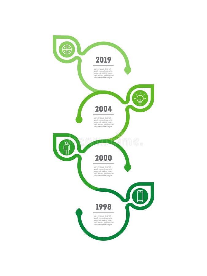 Ecologisch concept, om de planeet te bewaren Infographics, presentati royalty-vrije illustratie