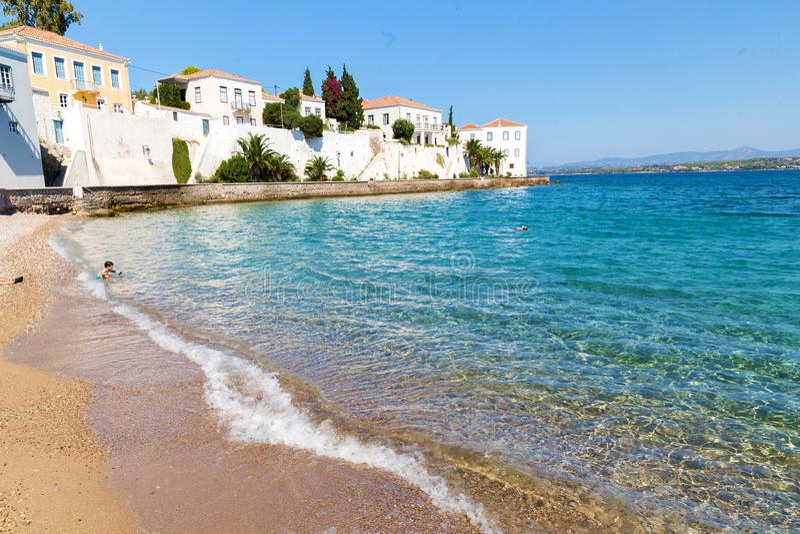 Ecologisch eiland Spetses royalty-vrije stock afbeelding