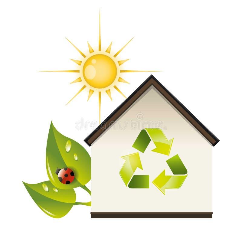 Ecologisch huis vector illustratie