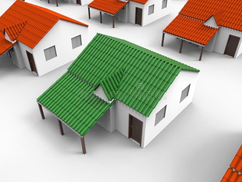Ecologisch huismodel vector illustratie