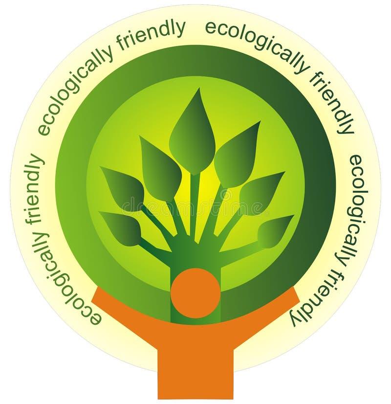 Ecologisch vriendschappelijk royalty-vrije illustratie