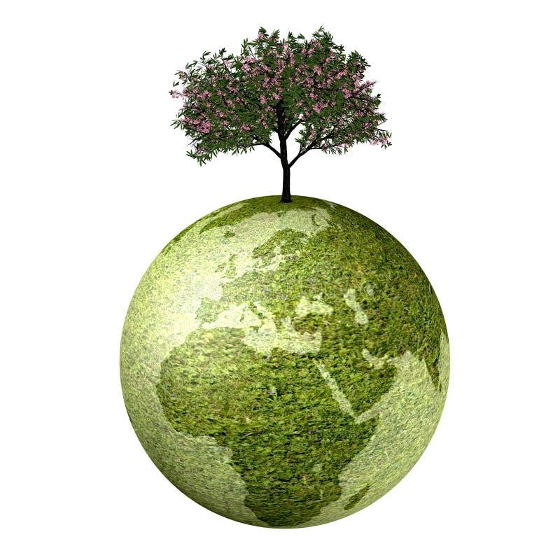 Ecologische Aarde royalty-vrije illustratie