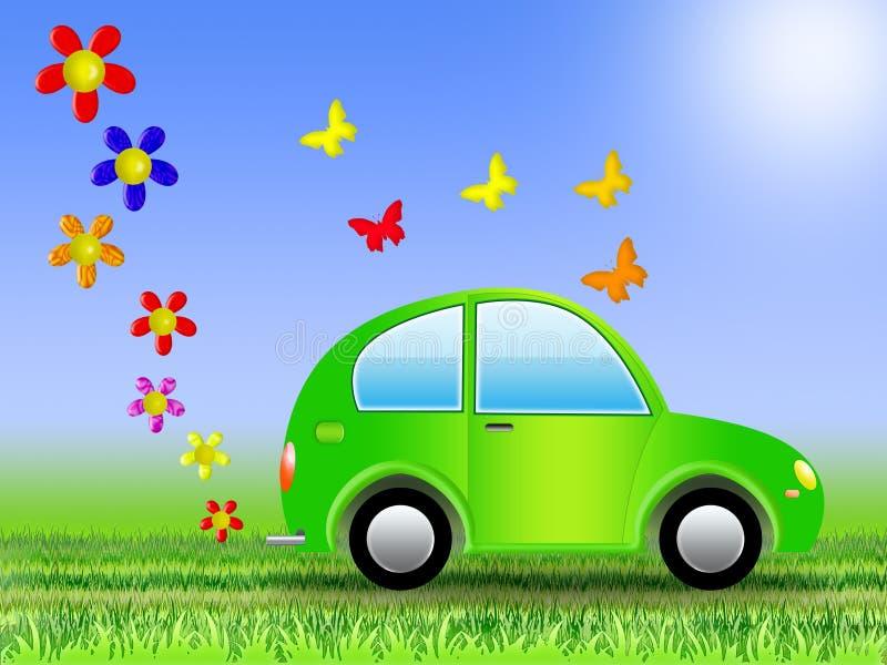 Ecologische auto (01) stock illustratie