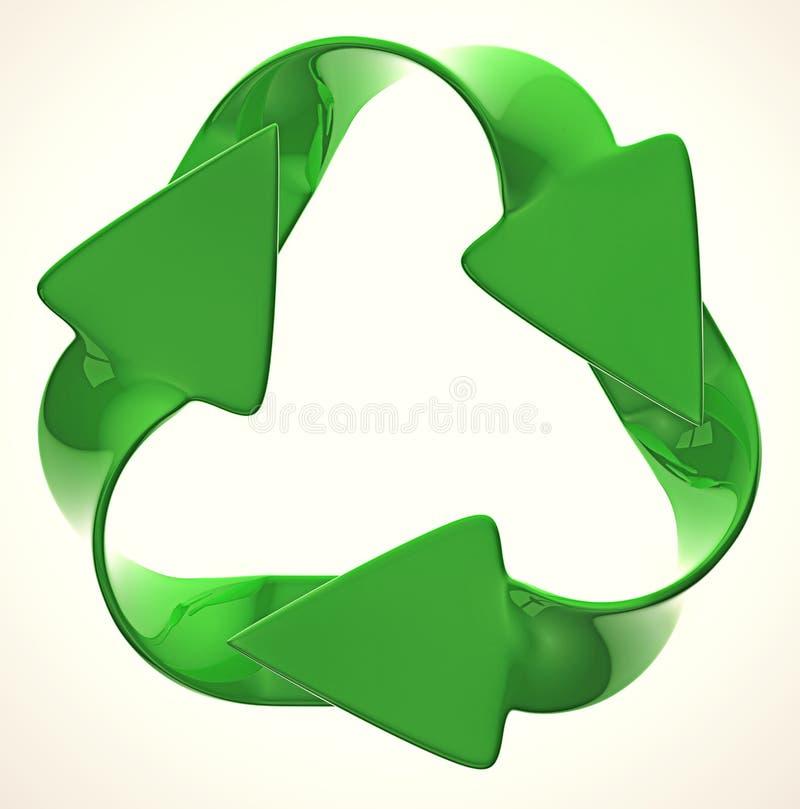 Ecologische duurzaamheid: groen recyclingssymbool vector illustratie