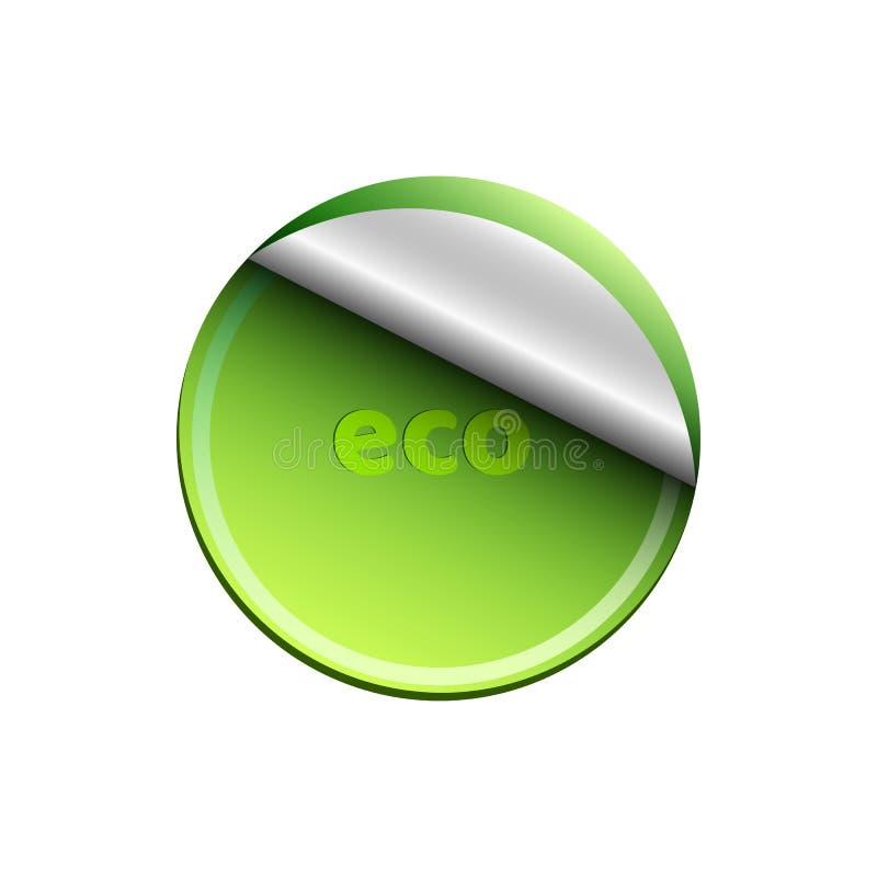 Ecologische lichtgroene die banner op witte achtergrond wordt geïsoleerd Achtergrond voor uw projecten Schone en verse aard reali stock illustratie