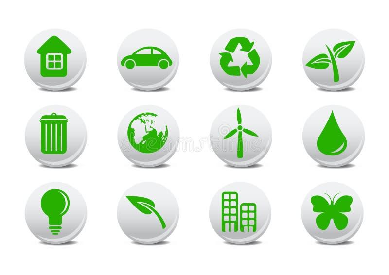 Ecologische pictogrammen vector illustratie