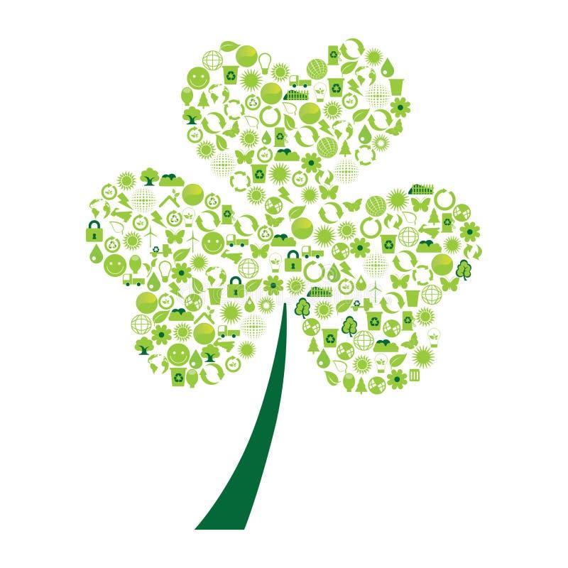 Ecologische symbolen vector illustratie