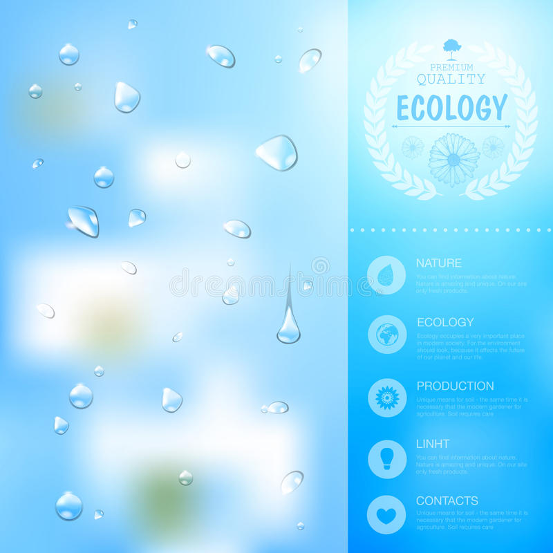 Ecology background. Web and mobile interface template stock illustration