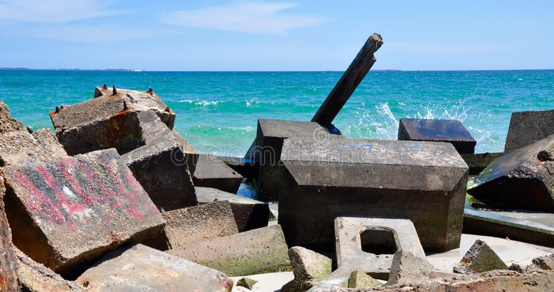Ecology Blocks on the Indian Ocean: Fremantle, Western Australia stock photography