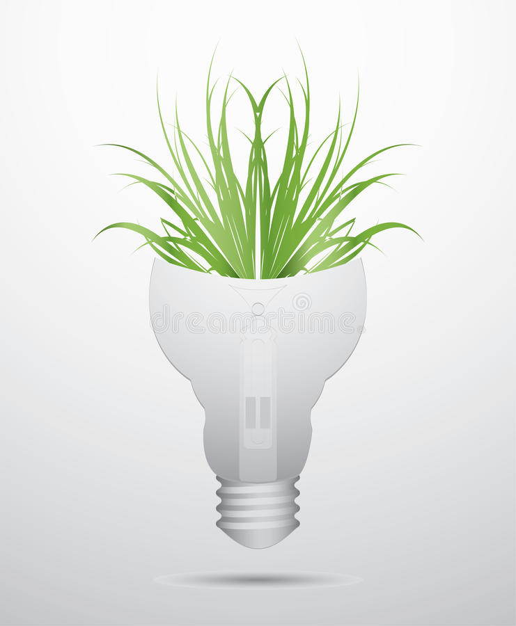 Download Ecology bulb stock vector. Image of bulb, concept, lamp - 23826168