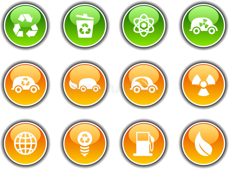 Download Ecology  Buttons. Royalty Free Stock Image - Image: 12349666