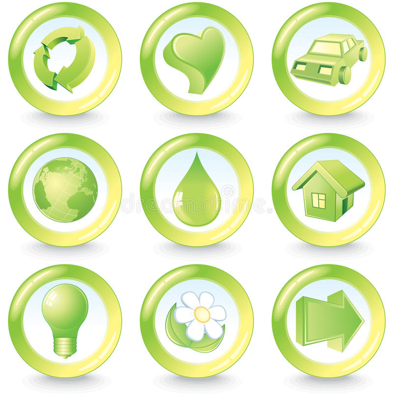 Download Ecology buttons stock vector. Image of healthy, bulb - 15341323