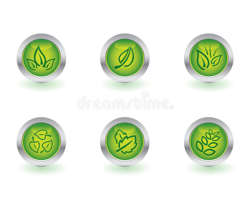 Ecology buttons stock illustration