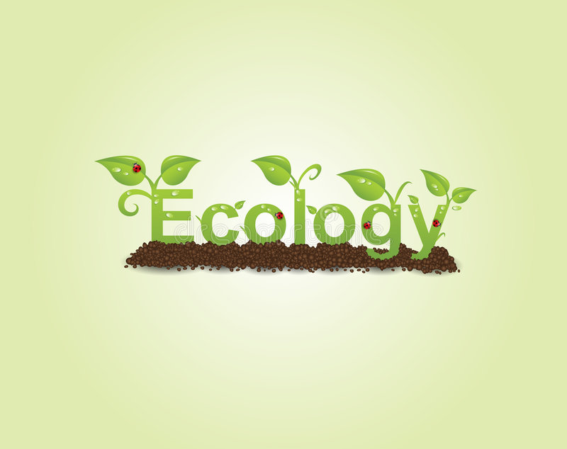 Ecology caption vector illustration