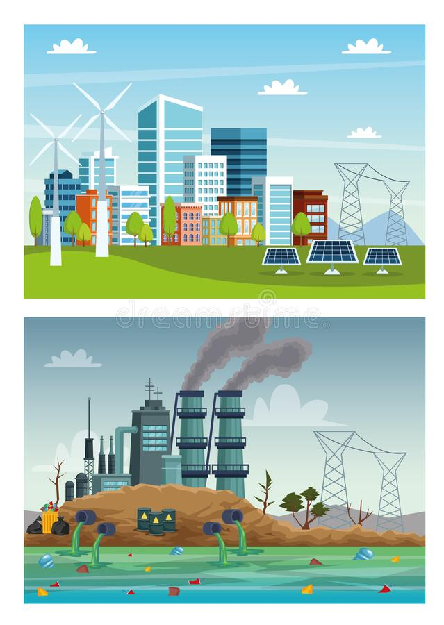 Free Ecology City And Industry Pollution Scenes Stock Image - 171865751