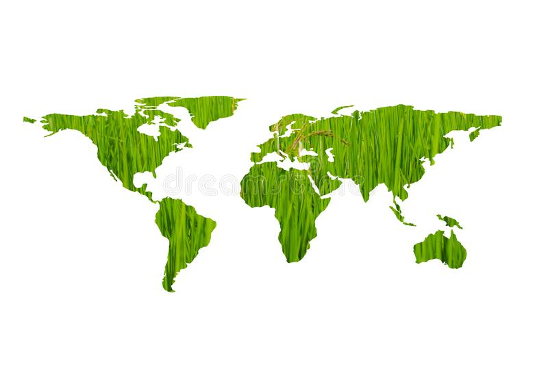Ecology concept,eco world map made of green leaves stock photos
