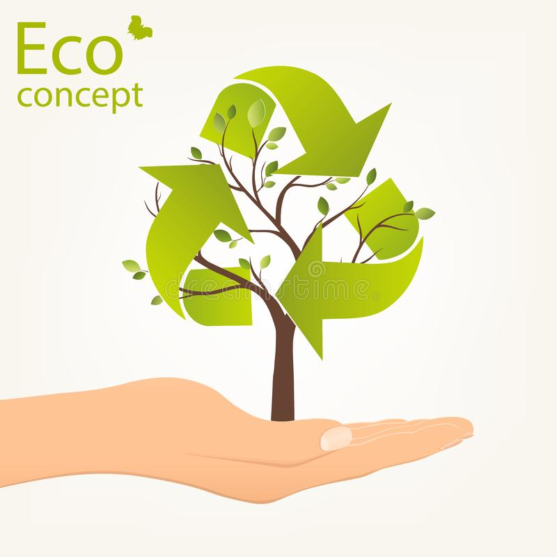 Ecology concept, save the Planet. royalty free illustration