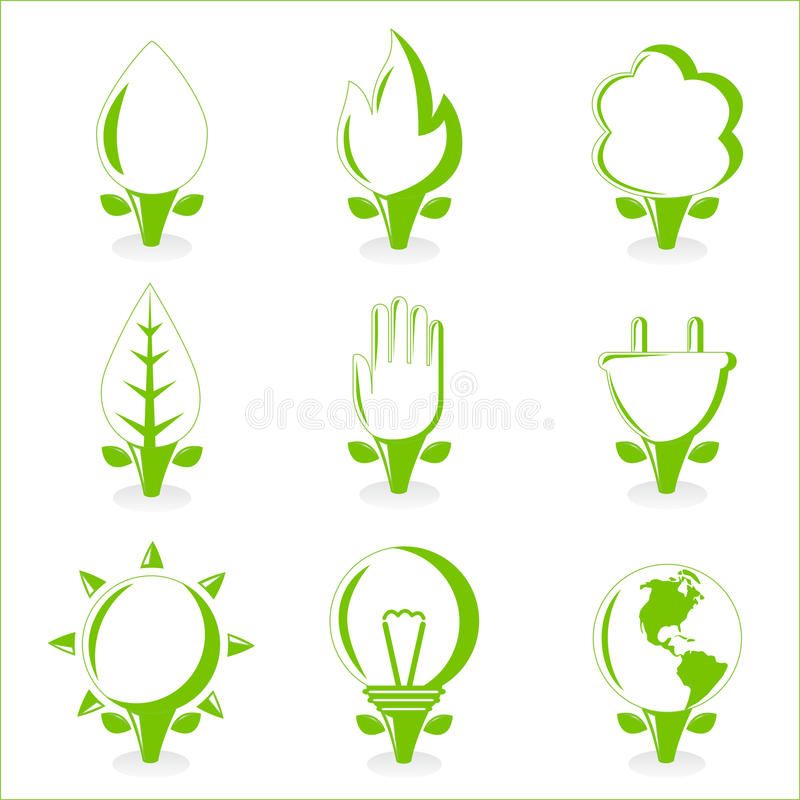 Download Ecology and energy symbol stock vector. Image of bulb - 17238252