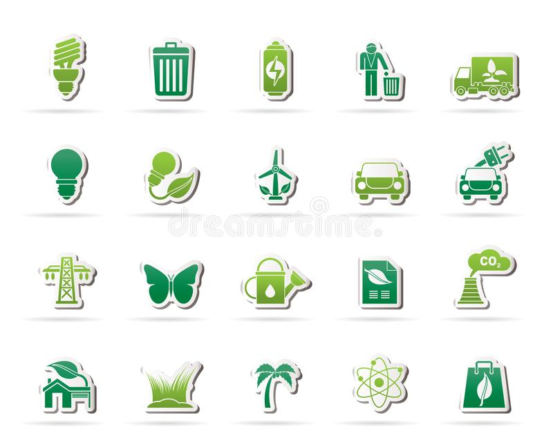 Ecology, Environment and nature icons 1. Vector icon set royalty free illustration