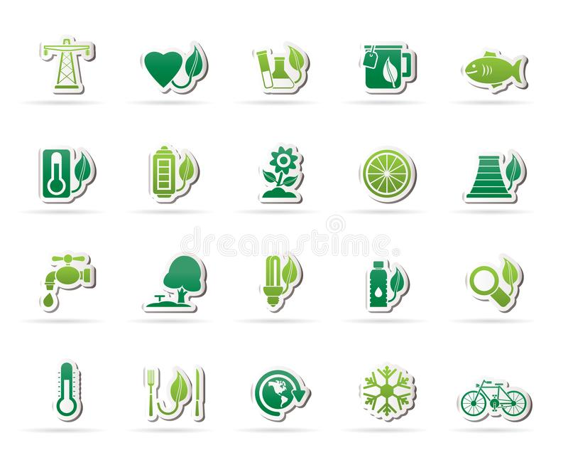 Ecology, Environment and nature icons. 4 - vector icon set vector illustration