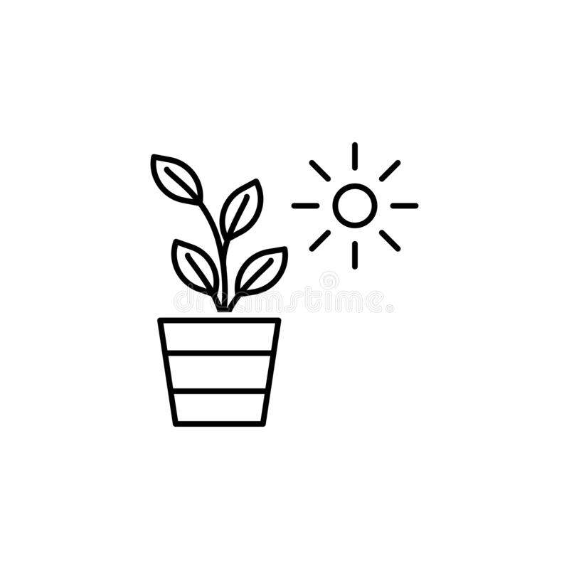 Ecology environment plant icon. Element of ecology environment icon. On white background vector illustration