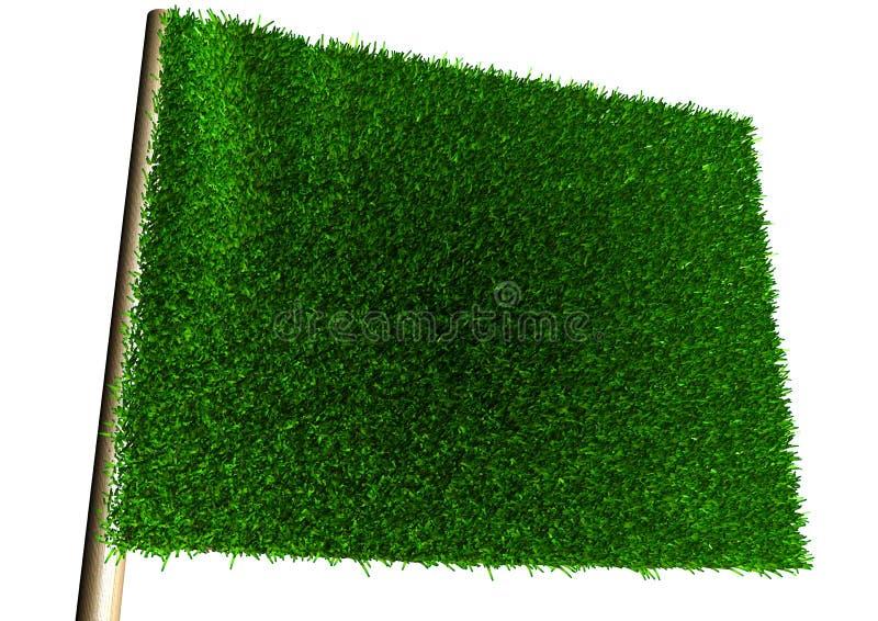 Ecology Flag vector illustration