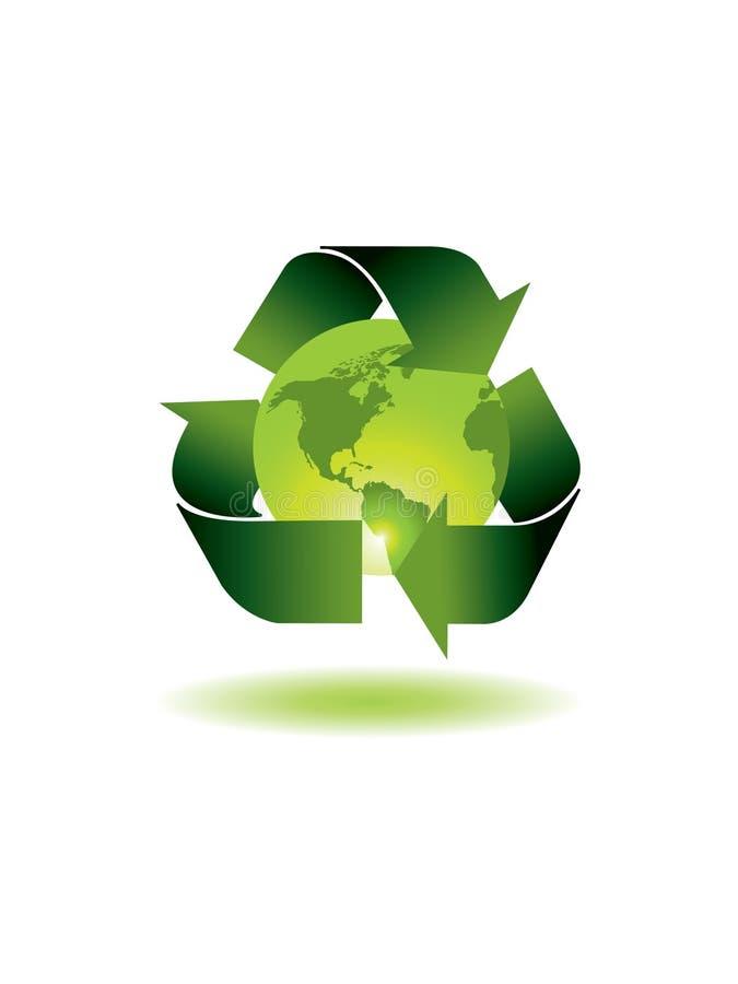 Ecology globe vector illustration