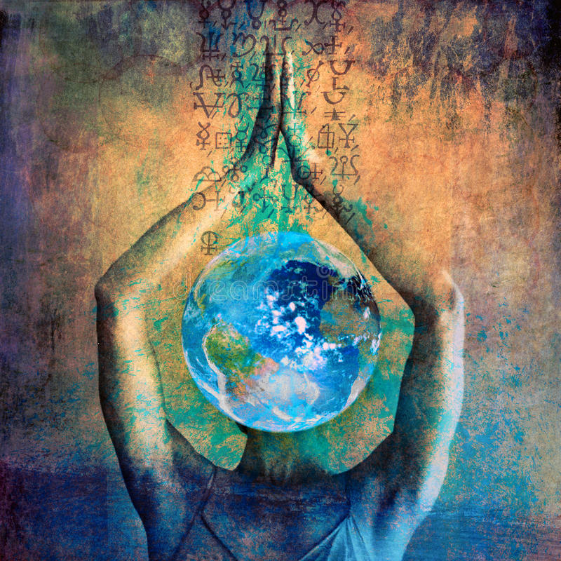 Cosmic Earth Goddess stock image