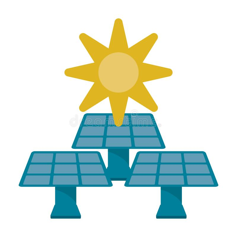 Ecology green energy stock illustration