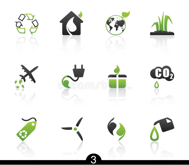 Ecology icon series vector illustration