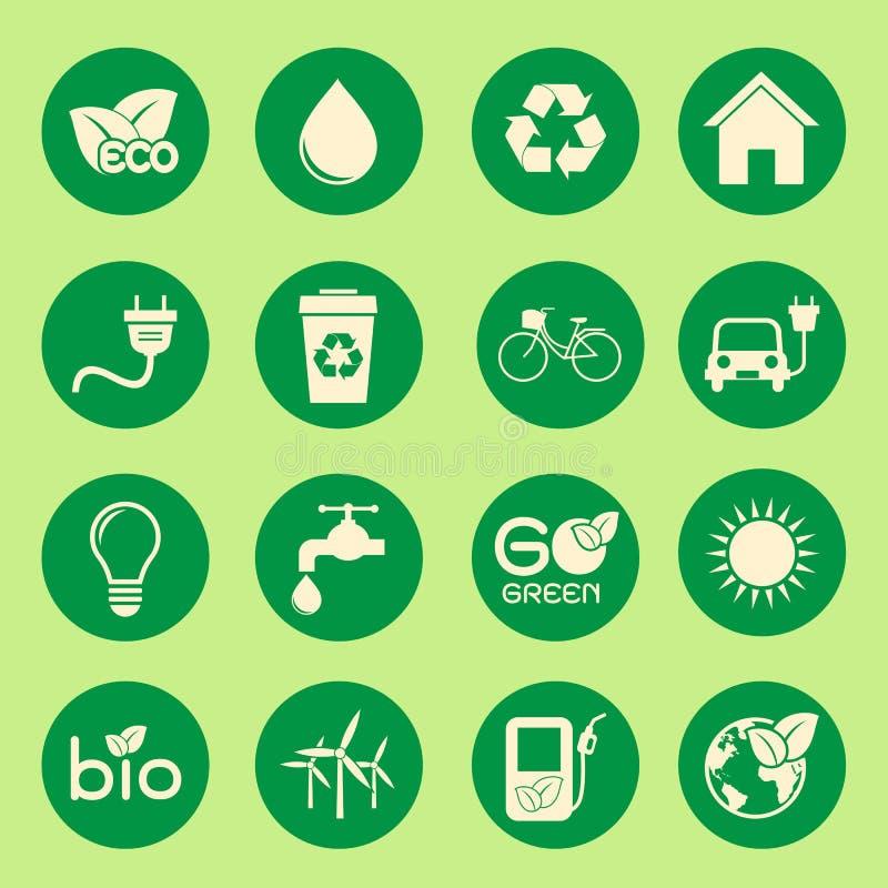 Ecology icon stock illustration