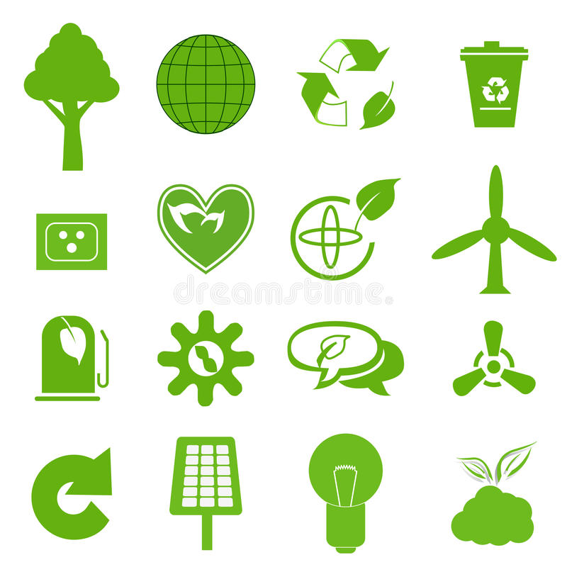 Ecology icon set 3 vector illustration