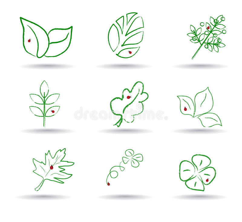 Ecology Icon Set. Eco-icons. Vector Stock Photography
