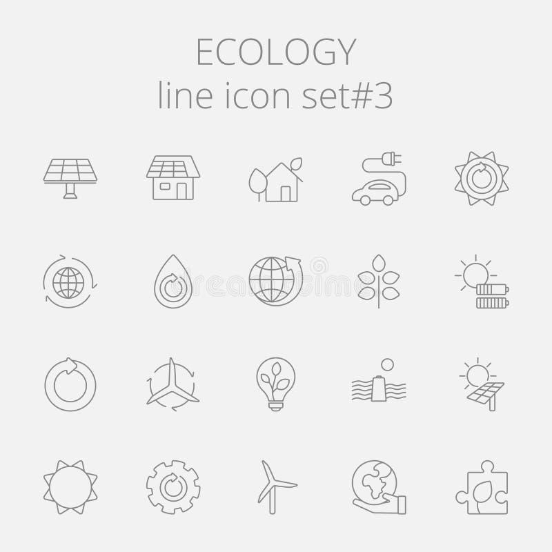 Ecology icon set stock illustration