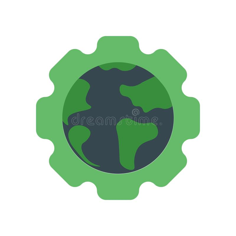 Ecology icon vector sign and symbol isolated on white background, Ecology logo concept. Ecology icon vector isolated on white background for your web and mobile royalty free illustration