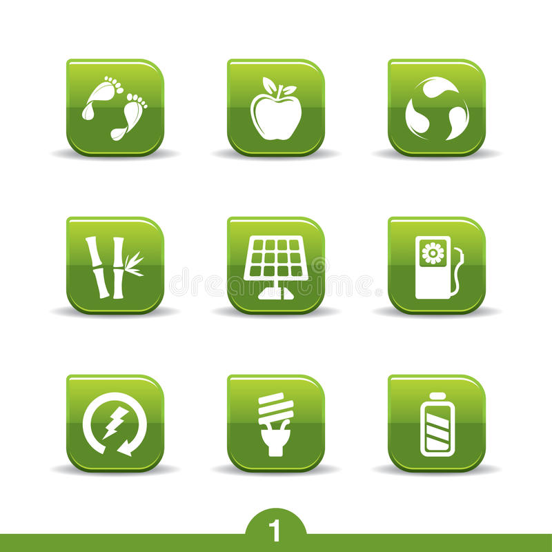 Ecology icons 1..smooth series stock illustration